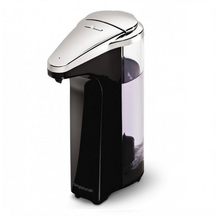 Dispensador de jab n con sensor color negro rozen for Dispensador de jabon