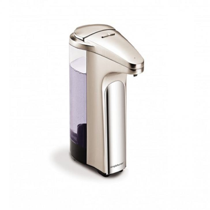 Dispensador de jab n con sensor color nickel rozen for Dispensador de jabon para ducha