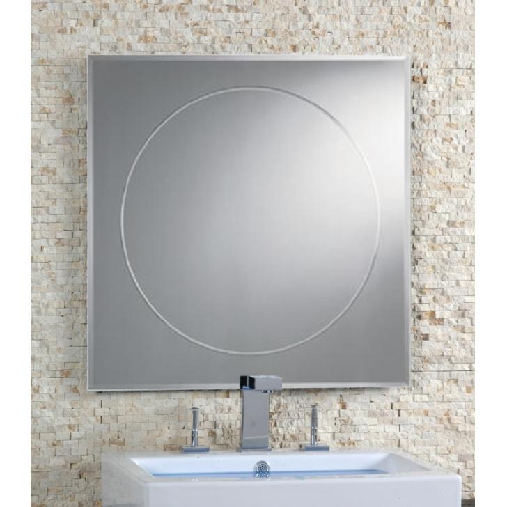 Espejo con decorado circular rozen for Espejo circular