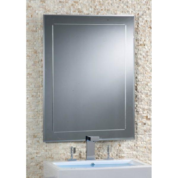 Espejo con marco biselado rozen for Espejos grandes con marco