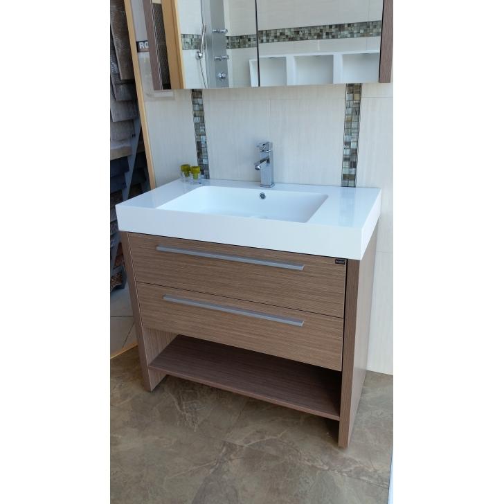 Mueble de ba o luxurious 90 cm color s oak rozen for Mueble bano 90 cm
