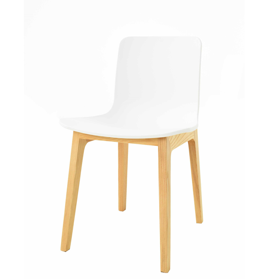Silla woody natural white rozen for Muebles rattan montevideo